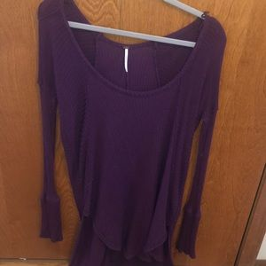 Free people unique purple tunic thermal longsleeve